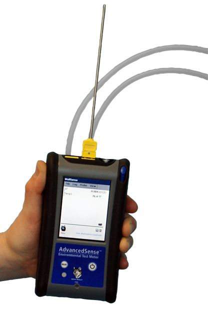 Hand held AdvancedSense Differential Pressure & Air Velocity Meter