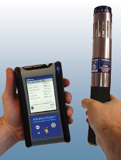 TG501 Multi-gas probe in use with AdvancedSense data logger