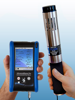 TG501 Multi-gas probe in use with AdvancedSense Pro data logger