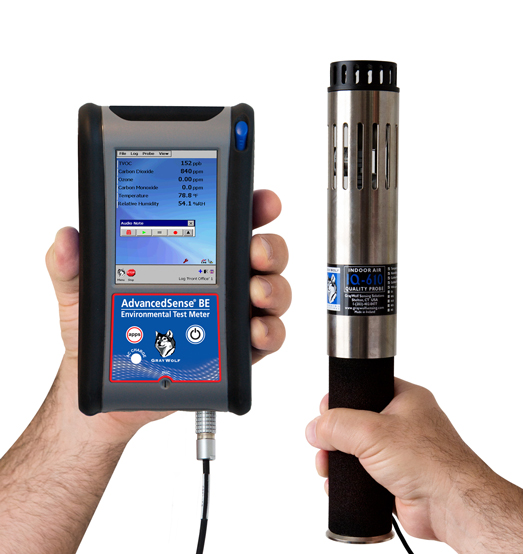 PC-4005 Portable Particle/Mass, TVOC, CO2, °C/°F, %RH Monitor